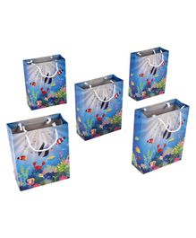 Karmallys Under Water Themed Gift Bags Blue - Pack of 5