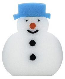 Snowman Shape Bath Sponge - White Blue