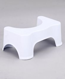 Baby Bath Stool - White