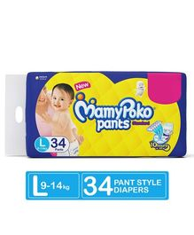 MamyPoko Standard Pant Style Diapers Large - 34 Pieces