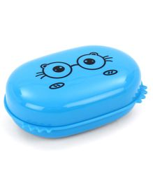 Spectacle Print Rectangular Soap Case - Blue
