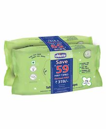 Chicco Soft Cleansing Wipes  Pack of 2 - Total 144 Pieces