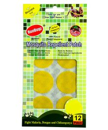 RunBugz Mosquito Repellent Patch Yellow - Pack of 12