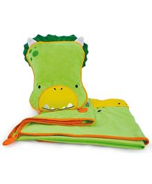 Trunki SnooziHedz Travel Pillow and Blanket Dudley The Dino - Green