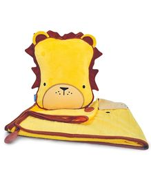 Trunki SnooziHedz Travel Pillow And Blanket Leroy the Lion - Yellow