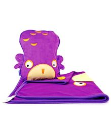 Trunki SnooziHedz Travel Pillow and Blanket Ollie the Owl - Purple