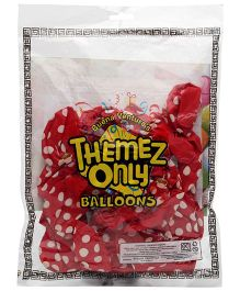 Themez Only Rubber Play Theme Balloons 25 Balloons (Color May Vary)