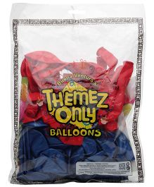 Themez Only Spider Man Rubber Theme Balloons Red And Blue -  50 Balloons