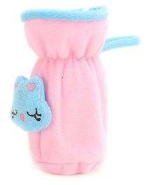 Babyhug Plush Bottle Cover Pink - Medium