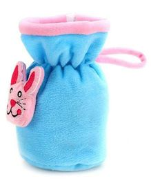 Babyhug Plush Bottle Cover Kitty Motif Medium - Blue