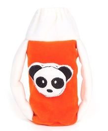 Babyhug Plush Twin Handle Bottle Cover Medium - Panda Motif