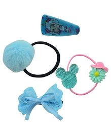 Angel Glitter Hai Accessory Blue Mini Combo Of 4