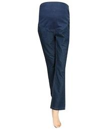 Mama & Bebe Maternity Denim Pants With Pockets - Blue