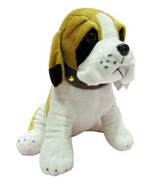 Soft Buddies Sitting Bull Dog Soft Toy Golden Brown  - 25.4 cm