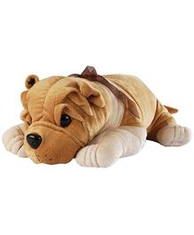 Soft Buddies Lying Bull Dog Soft Toy Brown Extra Large - Height 50 cm
