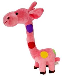 Soft Buddies Colorful Giraffe Soft Toy Pink - Height 33 cm