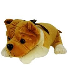 Soft Buddies Lying Bull Dog Soft Toy Golden Brown Medium - Height 27 cm