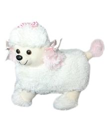 Soft Buddies Poodle Dog Soft Toy White - Height 17 cm