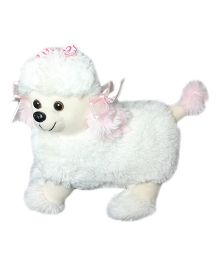 Soft Buddies Poodle Dog White - Height 7 cm