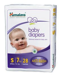 Himalaya Herbal Baby Diapers Small - 28 Pieces
