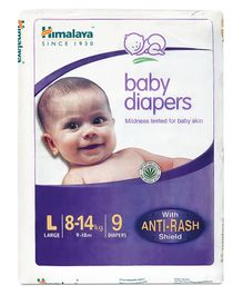 Himalaya Herbal Baby Diapers Large - 9 Pieces
