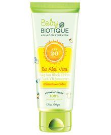 Biotique Bio Aloe Vera Sun Block Sunscreen SPF 20 - 50 gm