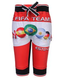 Finger Chips Three Fourth Pants Red - Fifa