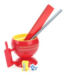 Buddyz Cricket Cup Stationery Kit - 5 Pieces