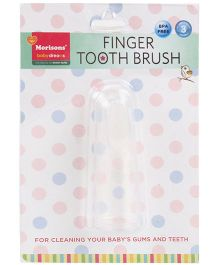 Morisons Baby Dreams  - Finger Toothbrush Silicone White