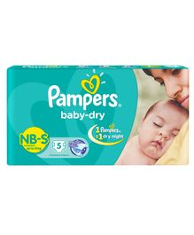 Pampers Baby Dry Diapers Newborn To Small - 5 Pieces