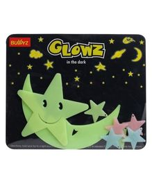 Buddyz Glowz Smiling Star and Smiling Moon - 8 Pieces