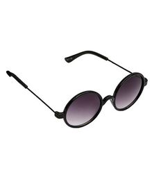 Spiky Round Sunglasses - Black