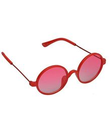 Spiky Round Sunglasses - Red
