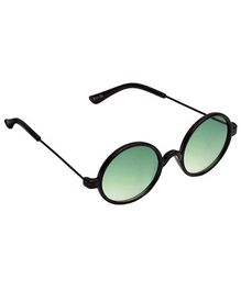 Spiky Round Sunglasses - Black And Green