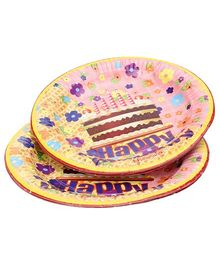 Karmallys Paper Plates Cake Print - Pack of 10