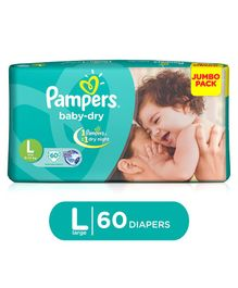 Pampers Baby Dry Diapers Large - 60 Pieces