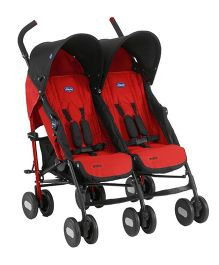 Chicco Echo Twin Stroller Garnet
