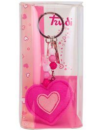 Trudi Key Ring Heart Design - Pink