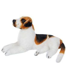 Tickles Sitting Dog Soft Toy White - Height 28 cm