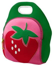 Elefantastik Strawberry Fields Lunch Bag - Red And Green