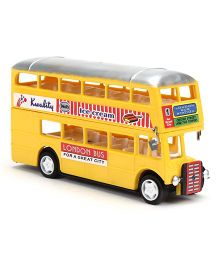 Speedage Double Decker Pull Back Plastic Bus Model (Color & Print May Vary)