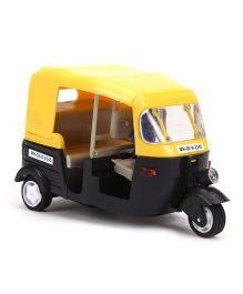 Speedage Junior Pull Back Plastic Auto Rickshaw Model (Color May Vary)