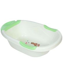 Bath Tub Cute Angel Print - Cream And Green