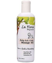 La Flora Organics Baby Bath And Body Massage Oil - 100 ml