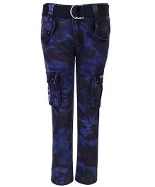 Noddy Full Length Cargo Pant With Belt - Navy Blue