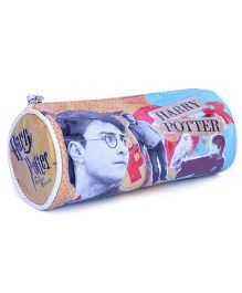 Harry Potter Round Pencil Pouch - Yellow
