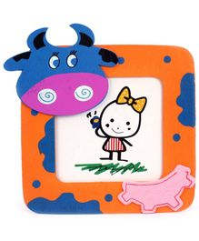 Fab N Funky Photo Frame - Buffalo Face Motif