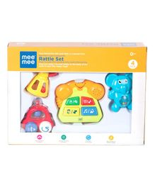 Mee Mee Cute Companion Rattle Set - 4 Pieces