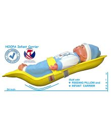 Hoopa Feeding Pillow Cum Carrier - Yellow