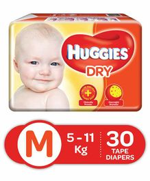 Huggies Dry Diapers Medium Size - 30 Pieces